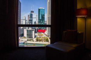 vista do quarto do Hyatt Chicago Regency