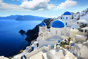 Construções típicas que viram cenário rotineiro de quem vai morar na Grécia