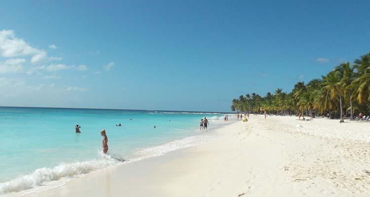 Praia em Santo Domingo, na Republica Dominicana