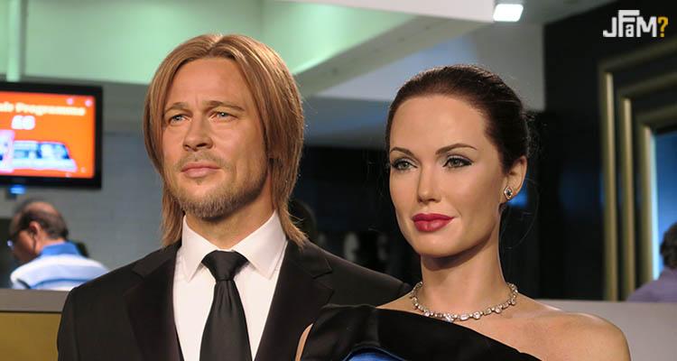 Estátua de Brad Pitt e Angelina Jolie no Madame Tussuads