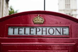 Cabine telefônica, em Londres
