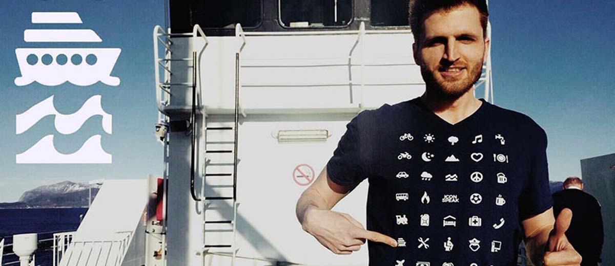 Camiseta para viajar para fora sem falar inglês