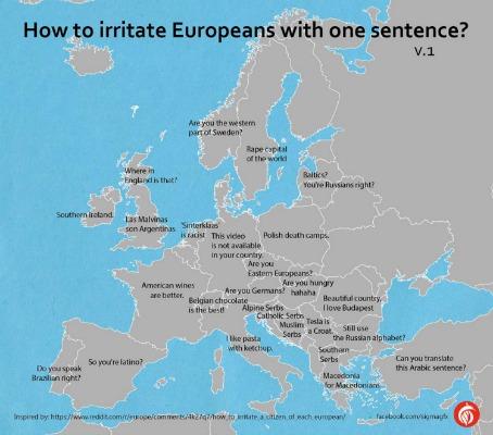 mapa irritar um europeu