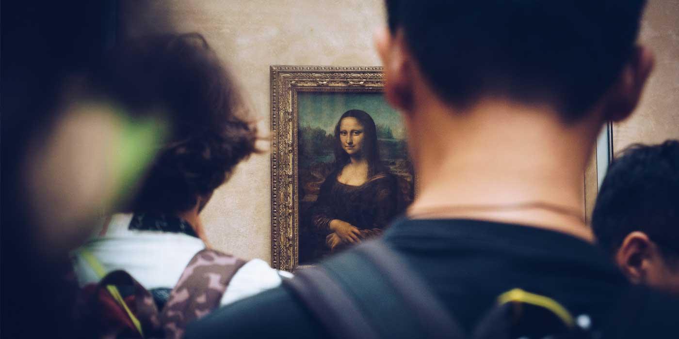 Monalisa no Louvre, em Paris
