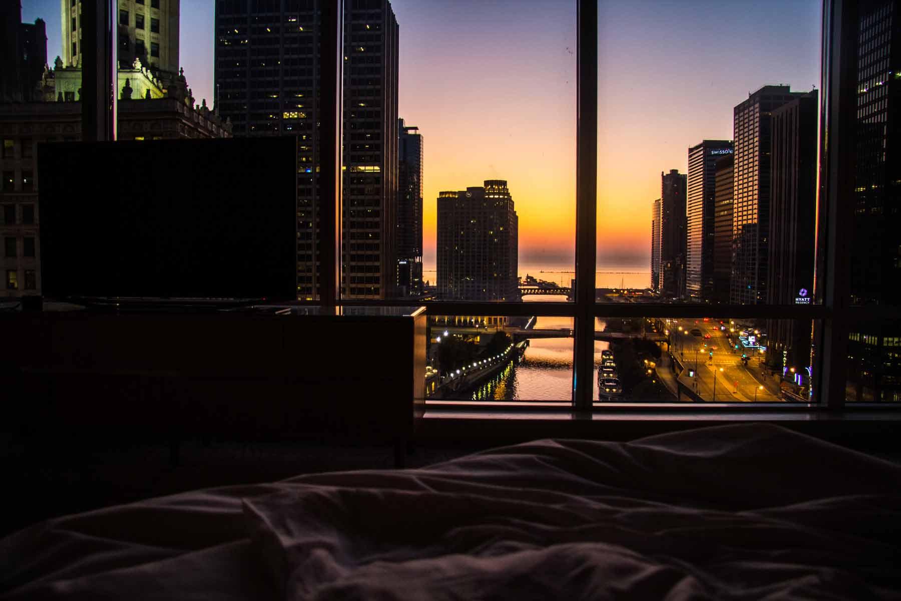 amanhecer no Trump International Hotel Chicago