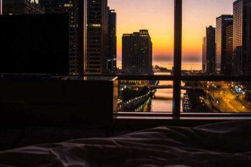 vista do quarto Trump International Hotel Chicago