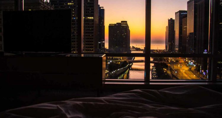 vista do quarto Trump International Hotel Chicago