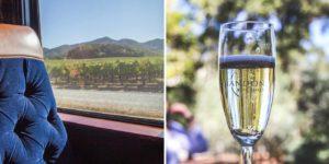 viajando com o Wine Train pelo Napa Valley