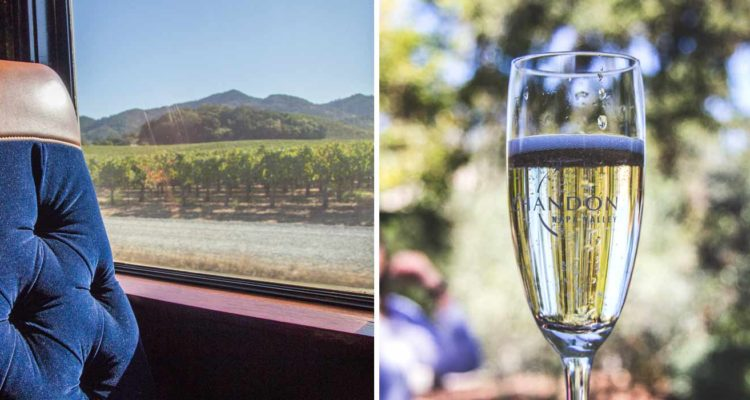 viajando com o Wine Train pelo Napa Valley