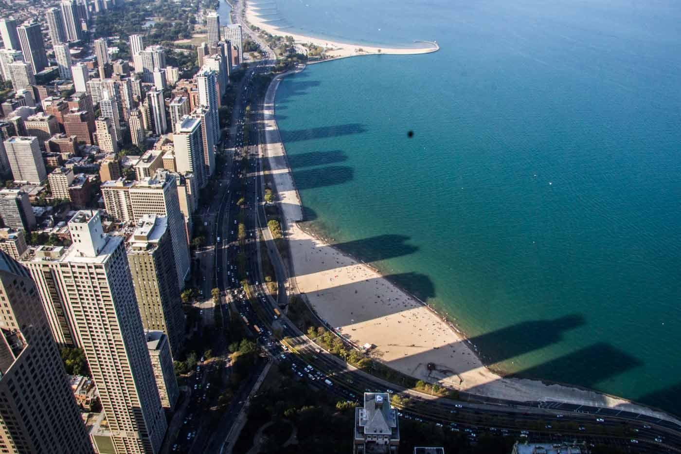 vista do 360º, em chicago