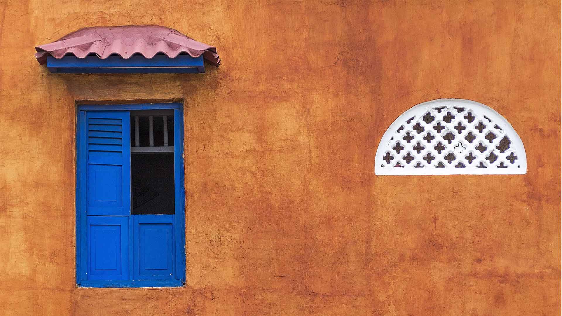 Casa e janela em Cartagena