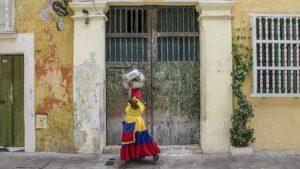 Andando em Cartagena