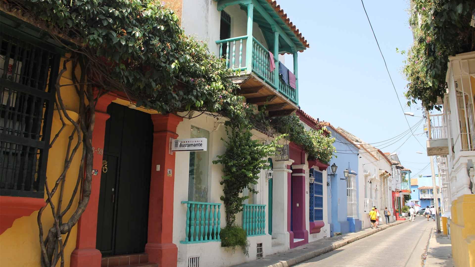 Rua em Cartagena