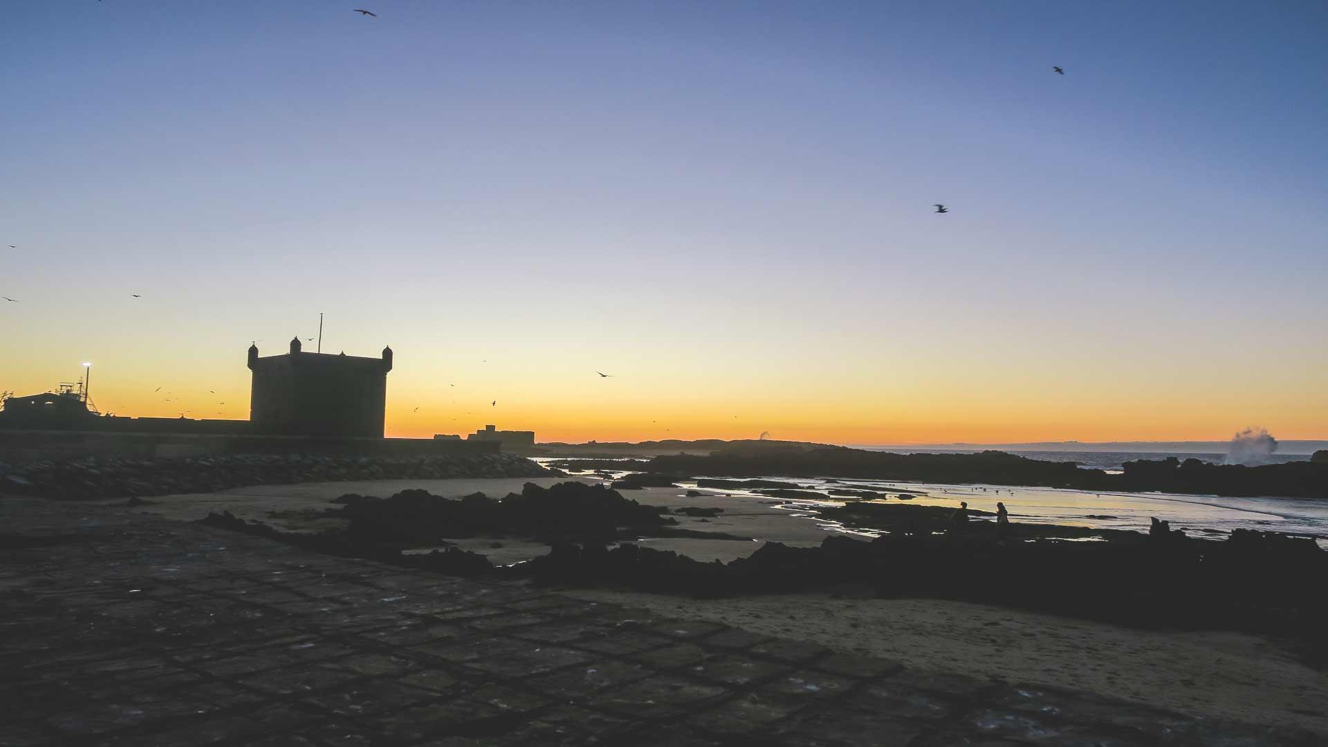 Pôr do sol em Essaouira
