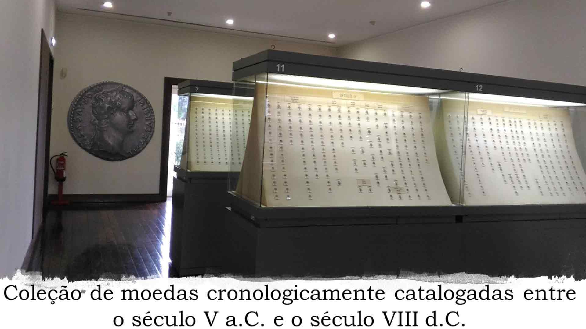 Moedas cronologicamente catalogadas