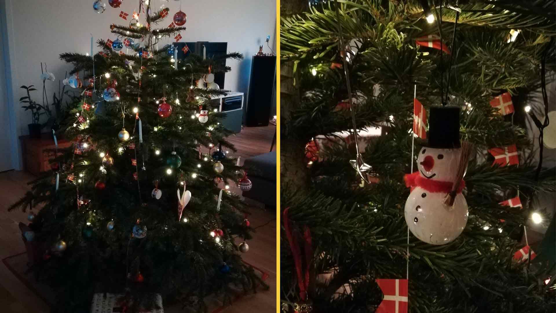 Decoração natalina em uma casa dinamarquesa