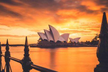 Uma vista privilegiada de Sydney, uma das cidades mais escolhidas quando o assunto é trabalhar na Austrália