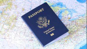 passaporte com visto para os Estados Unidos