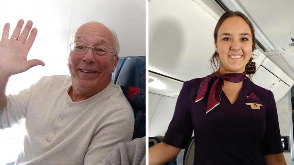 Pai viaja com filha aeromoça no Natal