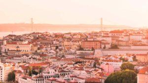 Vista do horizonte de Lisboa, capital de Portugal