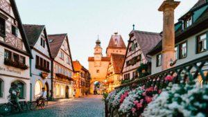Cidade do interior da Alemanha, um dos países da Europa