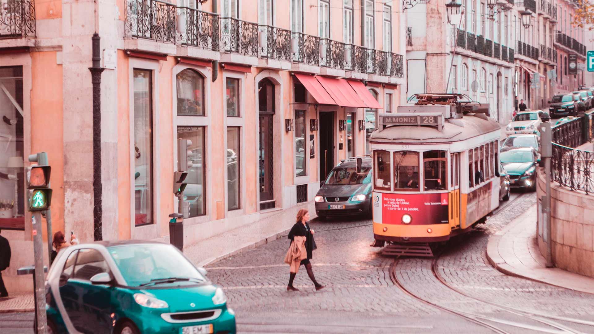 Vista do centro de Lisboa, capital de Portugal