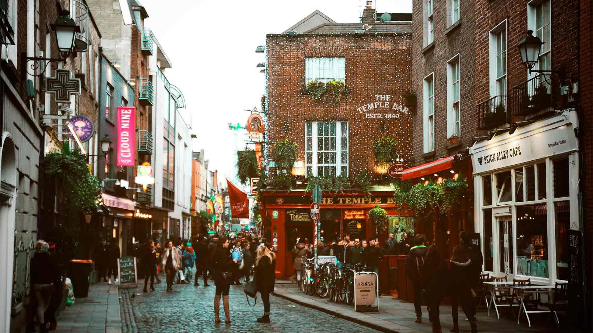 Um dos pontos mais famosos de Dublin, capital da Irlanda