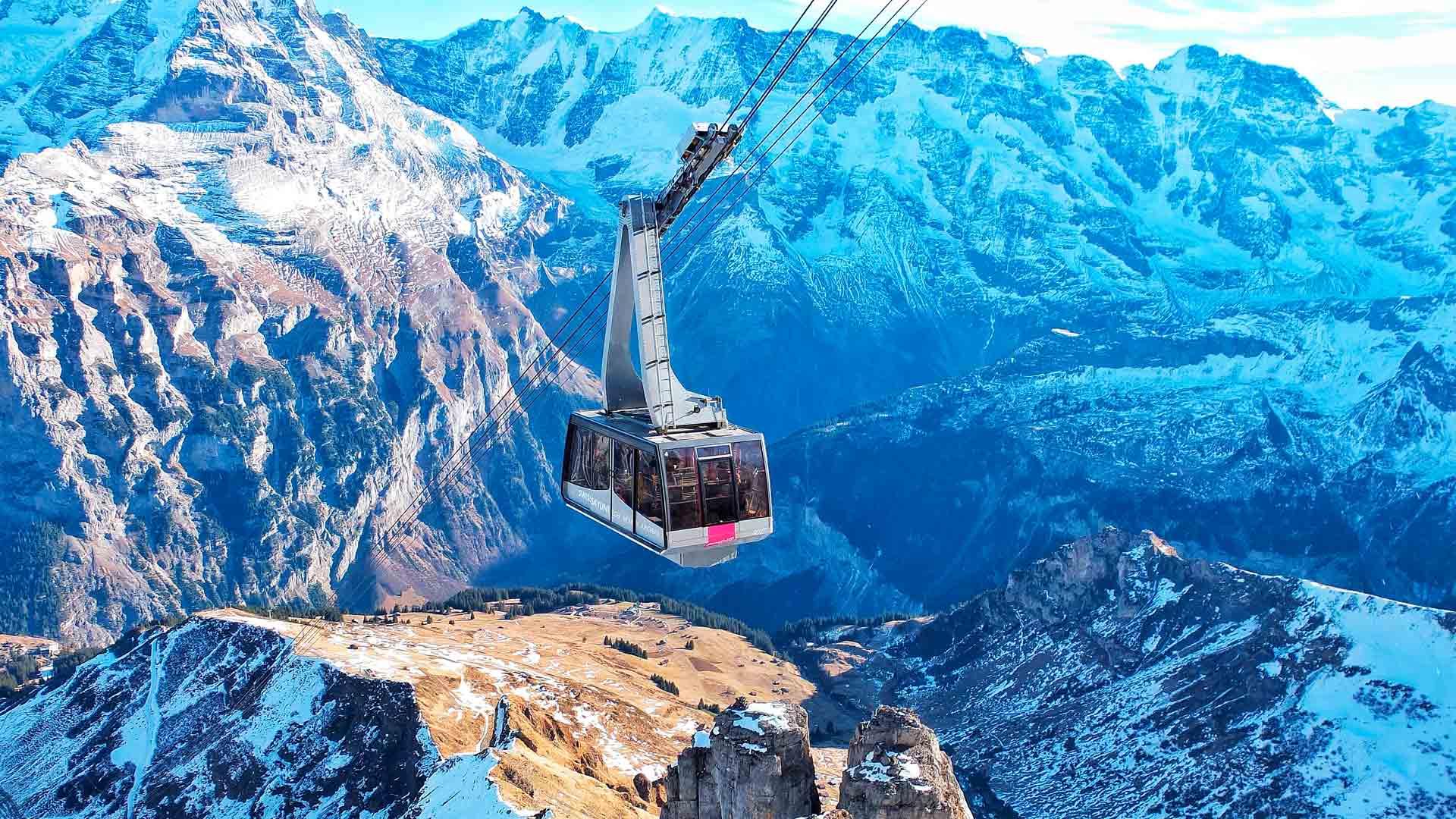 Vista dos Alpes Suíços