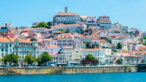 Vista principal da cidade de Coimbra