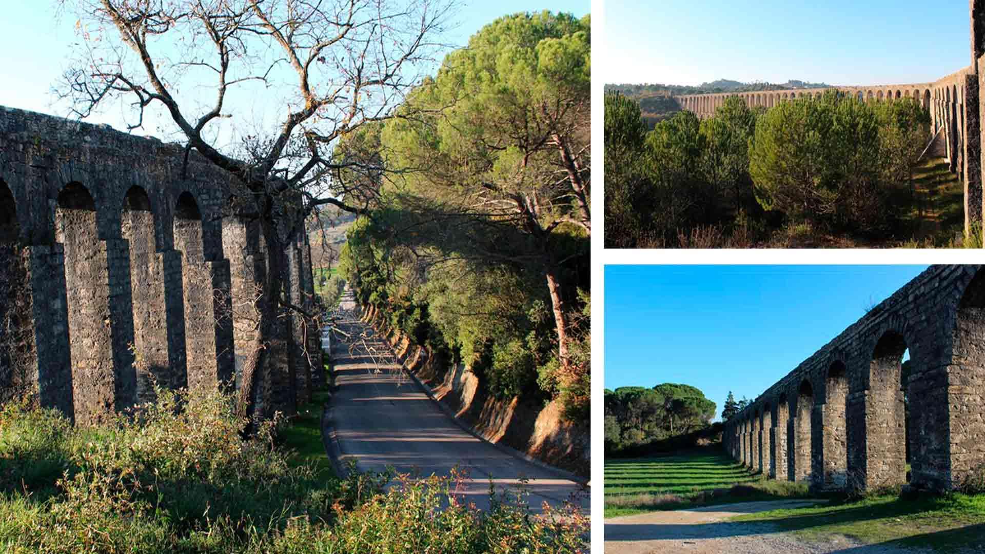 Aqueduto dos Pegões Altos, um dos pontos turísticos de Tomar