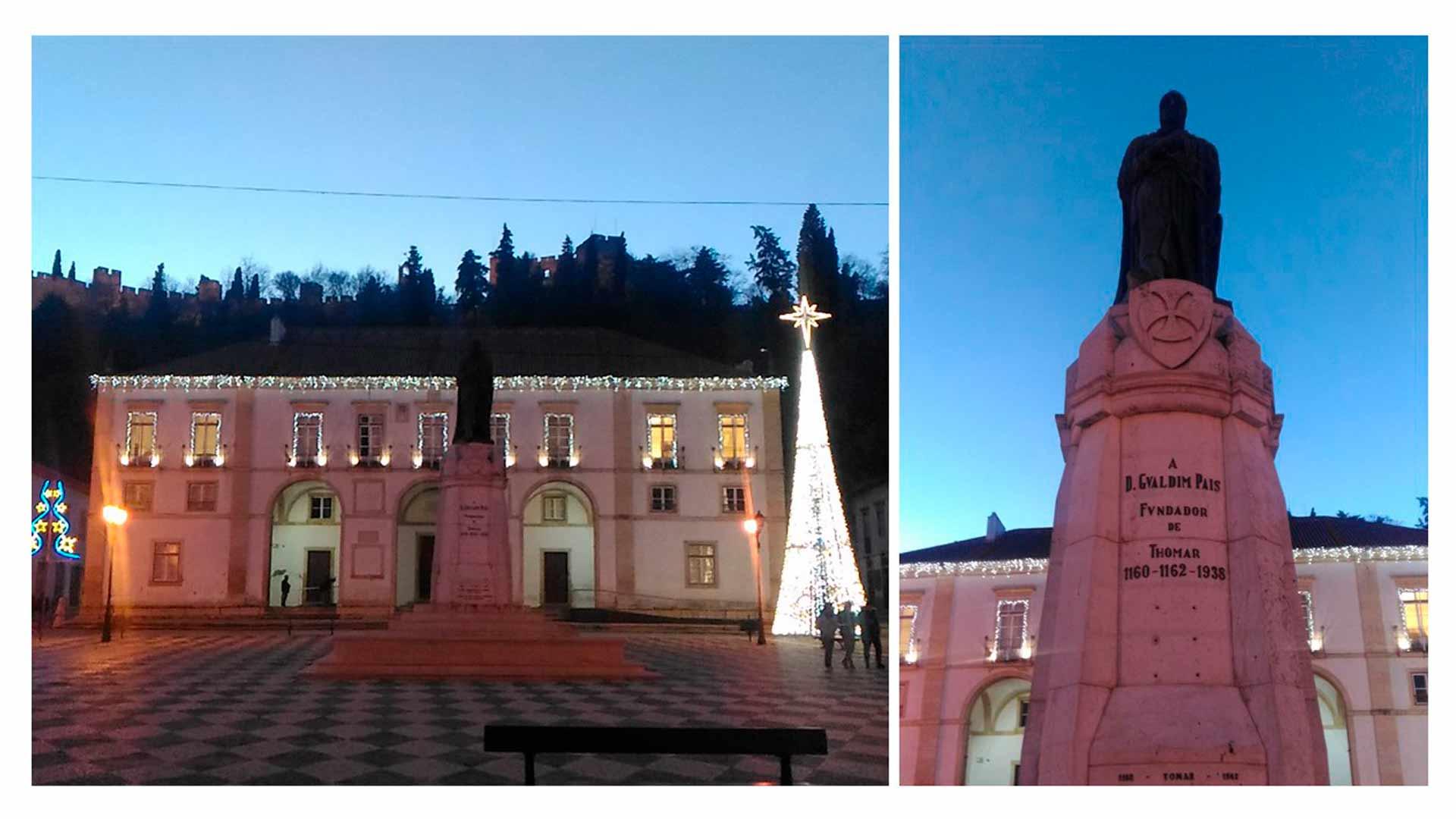Vista da Praça da República, em Tomar